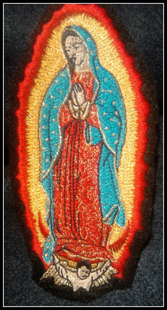 Virgen de Guadalupe iron on patch mexican folkart