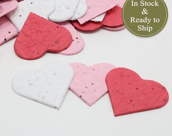Sweetheart Blend Plantable Seed Paper Confetti Hearts - READY-TO-SHIP, Wedding Favors, Bridal Shower Favors, Baby Shower Favors, Valentines