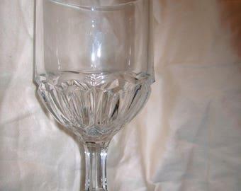 Vintage  Pressed Glass Goblet, EAPG