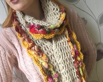 PDF pattern - pdf crochet - crochet pattern - crochet scarf pattern - crochet cowl pattern - pdf scarf