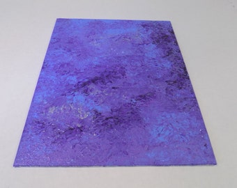 """Original abstract acrylic painting, one of a kind colorful wall art in shades of purples and blue titled """"Lavender"""" by RainbowMaille"""