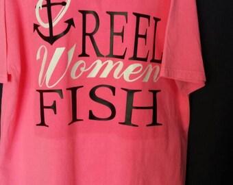Women's Fishing Shirt/ Women's Reel Fishing Shirt/ Fishing Shirt