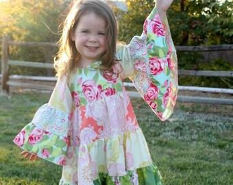 Hazel's Hippie Dress PDF Pattern size 6/12 months to size 8