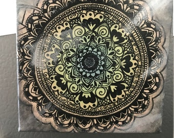 Mandala canvas, mini magnet