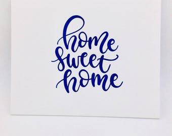 Home Sweet Home Print on White Canvas Panel, Home Decor, Canvas Wall Art, Canvas Wall Decor, Farmhouse Decor, Wall Print