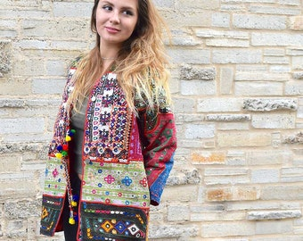 Embellished banjara jacket, boho embroidered jacket, indian jacket, festival fashion, boho  jacket