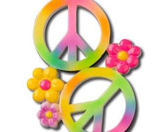 Peace Sign Personalized Christmas Ornament