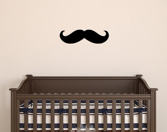 Mustache Wall Decal / Large Mustache Sticker / Kids wall decoration / Boy's Room Decal