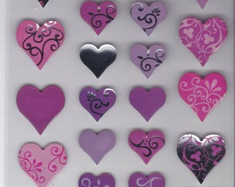 Paper Crafts Epoxy Heart Stickers