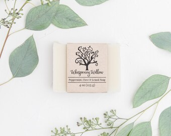 Peppermint Clove with Lemon - All Natural Vegan Handcrafted Soap