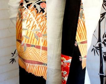 Japanese silk kimono scarf | Hand made from vintage kimono fabrics**S125**