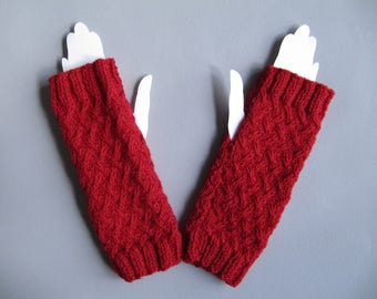 Arm warmers women's knitted hand without the thumb