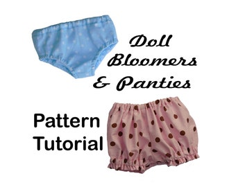 PANTIES & BLOOMERS 18 inch American Girl Doll Clothes  pattern  PDF Easy Sew Accessories