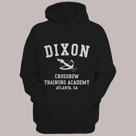 "The Walking Dead ""Dixon Crossbow Training Academy"" Hoodie Sweater S-XL Available TWD Hooded Sweatshirt"