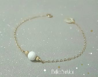 Gold Filled 14 K Gold Pearl clam BrilleSurMoi bracelet