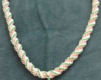 Beautiful Double Spiral Rope Necklace