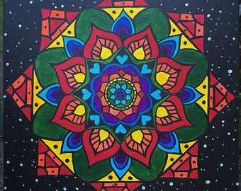 Chakra Decor / Chakra Wall Hanging / Chakra Painting / Mandala Painting / Mandala Art / Chakra Art / Boho Decor / Hippie Decor