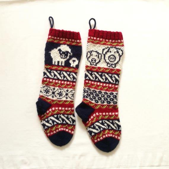 Sheep Fair Isle knit Pigs Fair Isle Knit knit Christmas