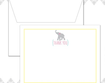 Elephant Baby Shower Stationery Set of 10 with envelopes