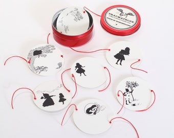 Alice in Wonderland Magic circle - Thaumatrope set