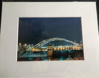 Freddie Sue Bridge at Night,  Rochester, NY
