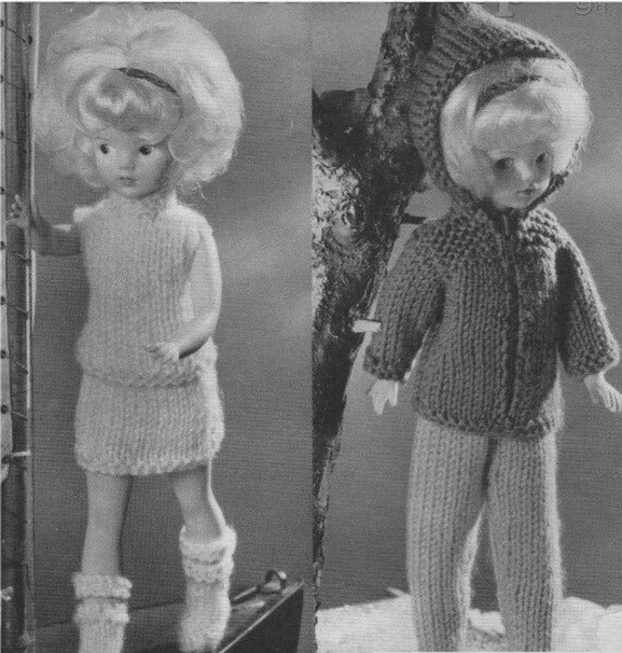 Dolls Clothes Knitting Pattern Pdf For 11 12 Inch Doll Sindy