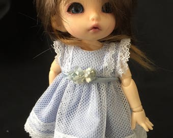 BJD Pukifee/ Lati yellow/ OOAK 16cm polymer clay doll dress and pants
