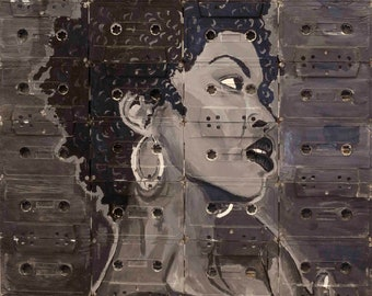 lauryn hill on cassettes original painting