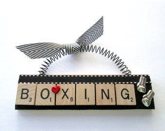 Boxing Scrabble Tile Ornament