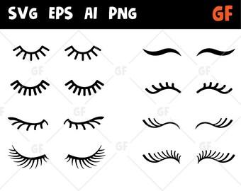 Eyelashes clipart, eyelashes clip art, eyelashes SVG, eyelash svg, eyelash vector, eyelash cut file, lashes svg, eyelashes cricut