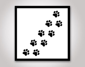 Paw Print SVG / Paw Print Vector / Paw Print Clipart / Dog SVG / Animal svg / svg Files for Cricut / Silhouette