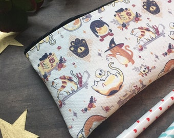 Witch Kitties Small Zipper Pouch
