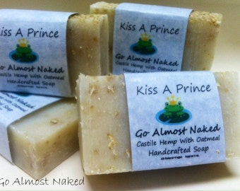 Castile soap with Oatmeal - Go Almost Naked Set of 2 Bars  ALL NATURAL