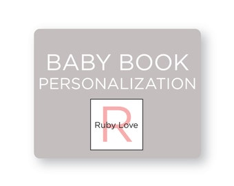 Personalize Your Ruby Love Baby Book - Baby Memory Book
