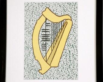 Music (Ceol) Ogham 8x10 Print