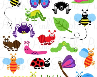 Bugs SVGs, Cute Insect Cutting Templates - Commercial and Personal Use