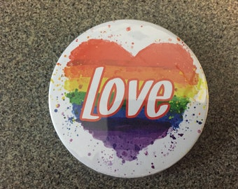 "LGBDT ""Love"" 2 1/4 Inch Button"