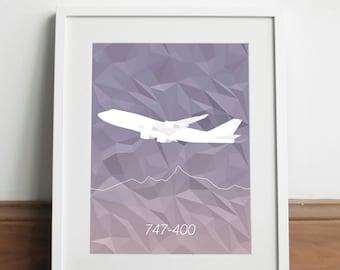 Boeing 747-400 Aircraft - Art print