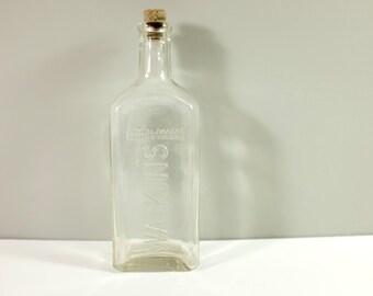 Vintage Watkins Medicine Bottle - Watkins apothecary glass bottle from the 40' - Pharmacy bottle
