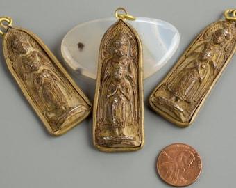 Antique Wrapped Buddha Pendant- b33