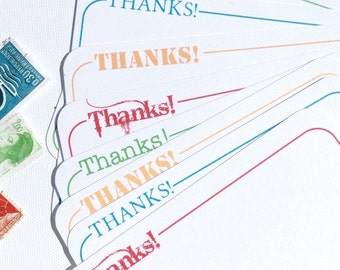 Starry Thank You Note Flats Set of 8
