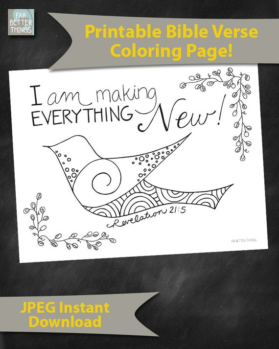 Bible Verse Coloring Page Revelation 215 Everything New