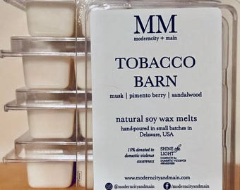 TOBACCO BARN // wax melts // natural soy // hand-poured // small batch