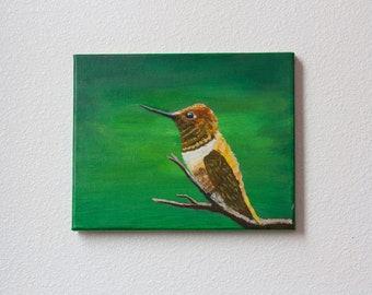 Shiny Hummingbird Painting