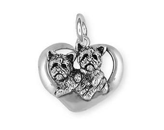 Yorkshire Terrier Yorkie Dog Charm Jewelry Sterling Silver  YK32-C