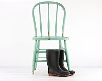 Ferme chaise, chaise de salle à manger rustique, chaise primitif, dinant la chaise, chaise ancienne, décor de ferme, décor rustique, dinant la chaise, chaise de cuisine