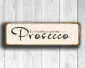 PROSECCO SIGN, ProseccoSigns, Vintage Style Prosecco Sign, Kitchen Decor, Dining Room Sign, Dining Room Decor, Prosecco , PROSECCO Wall Art