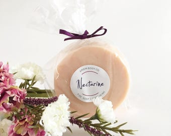Ripe Nectarine Fruit Soap -  Luxurious Handmade Soap, Shea Butter, Best Selling Soap, Unique Gifts for Her, Stocking Stuffers, Natural Soaps