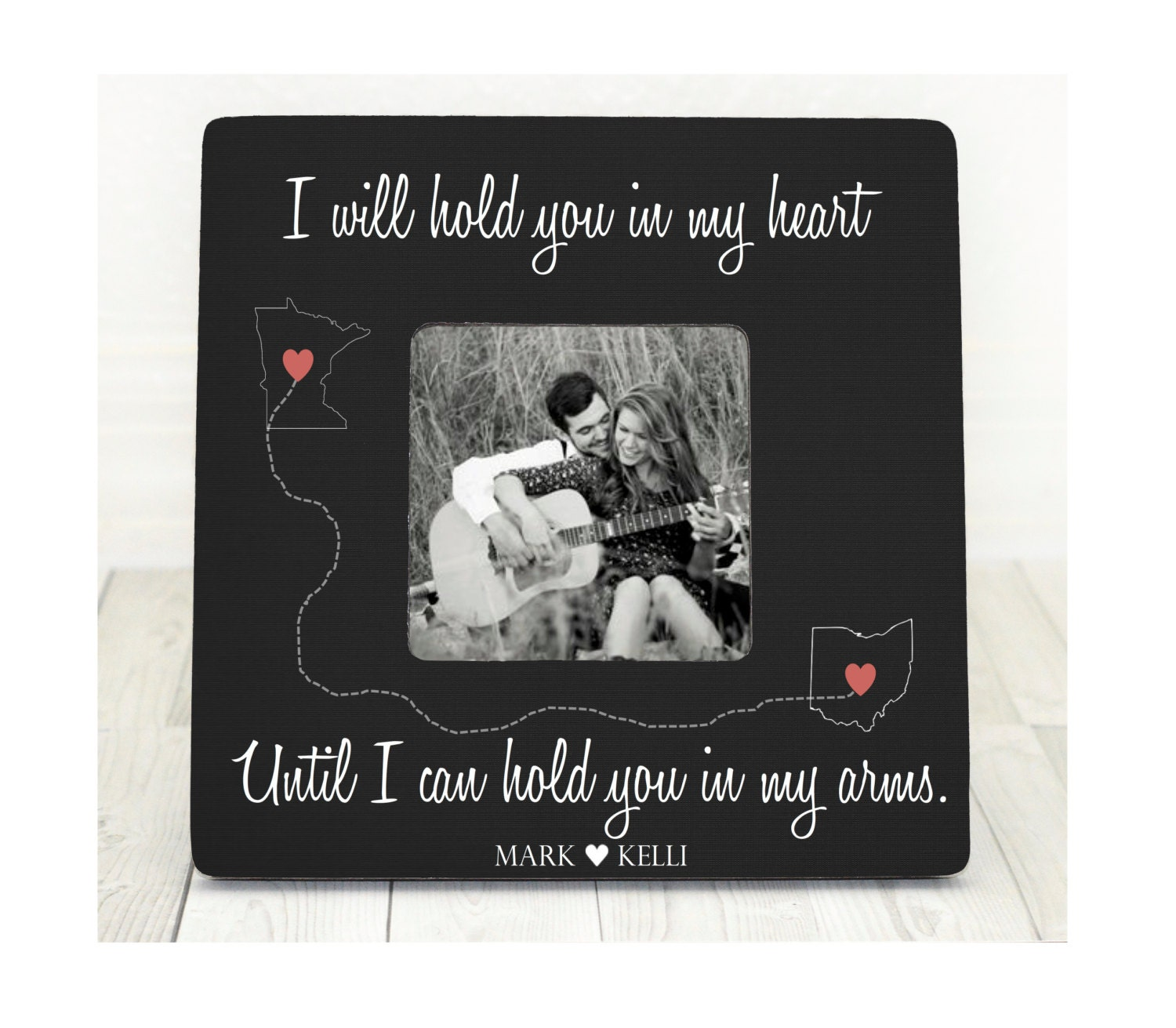 Long Distance Love Picture Frame Long Distance Relationship Gift for ...