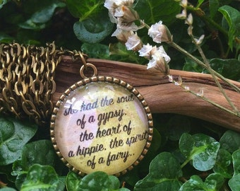 Gypsy Typewriter Quote Necklace